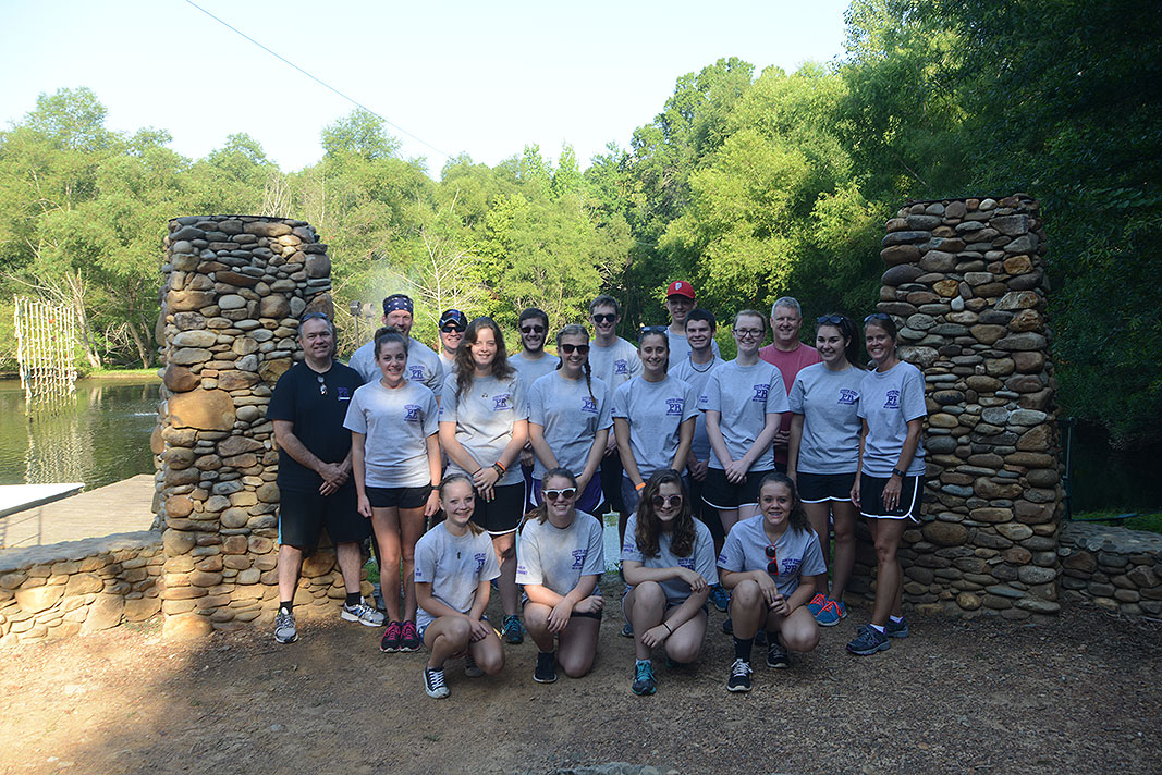 Porter Ridge High School Band at Xtreeme Challenge Team Building Center in Monroe North Carolina