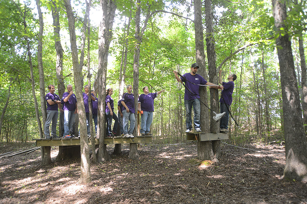 Novant Health CEMP at Xtreeme Challenge Outdoor Adventure Team Building Center in Charlotte NC