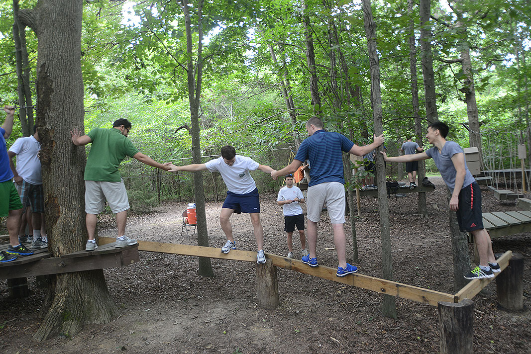 Wells Fargo Bank IB Associates at Xtreeme Challenge Team Building Center in Charlotte North Carolina