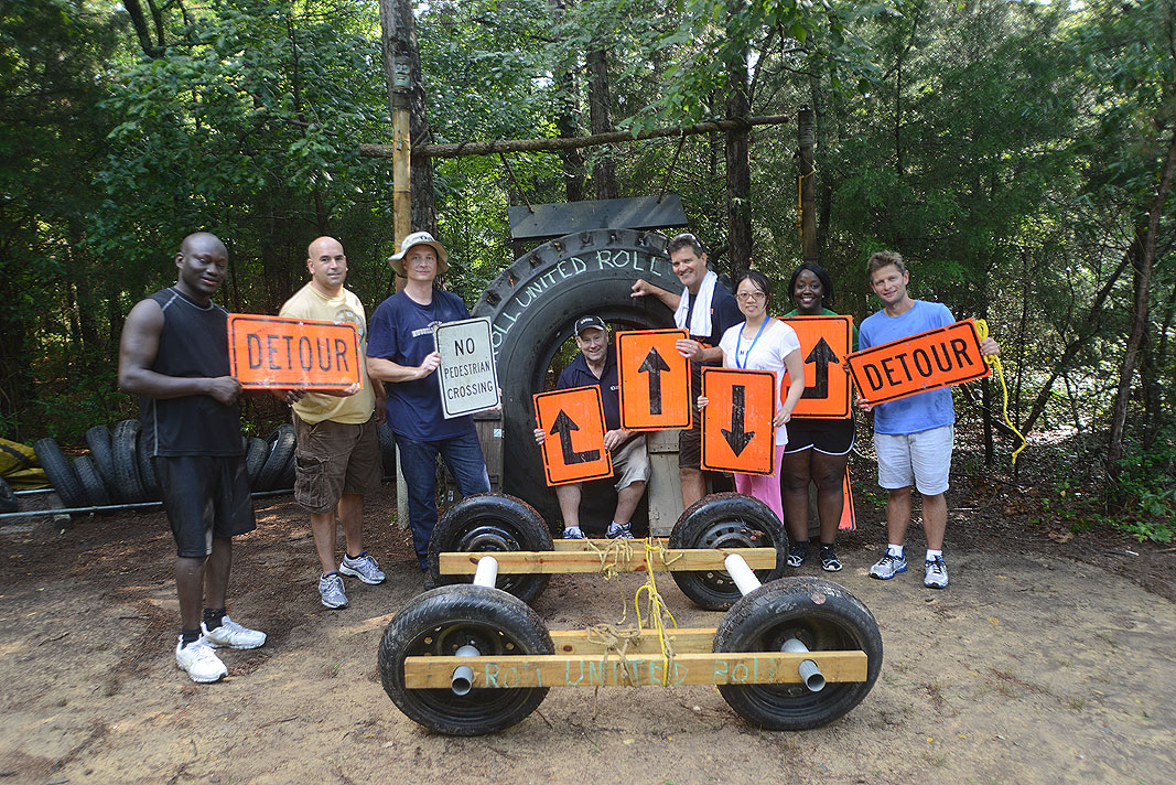 United Rentals Corporate Team Building at Xtreeme Challenge Cemter in Charlotte North Carolina