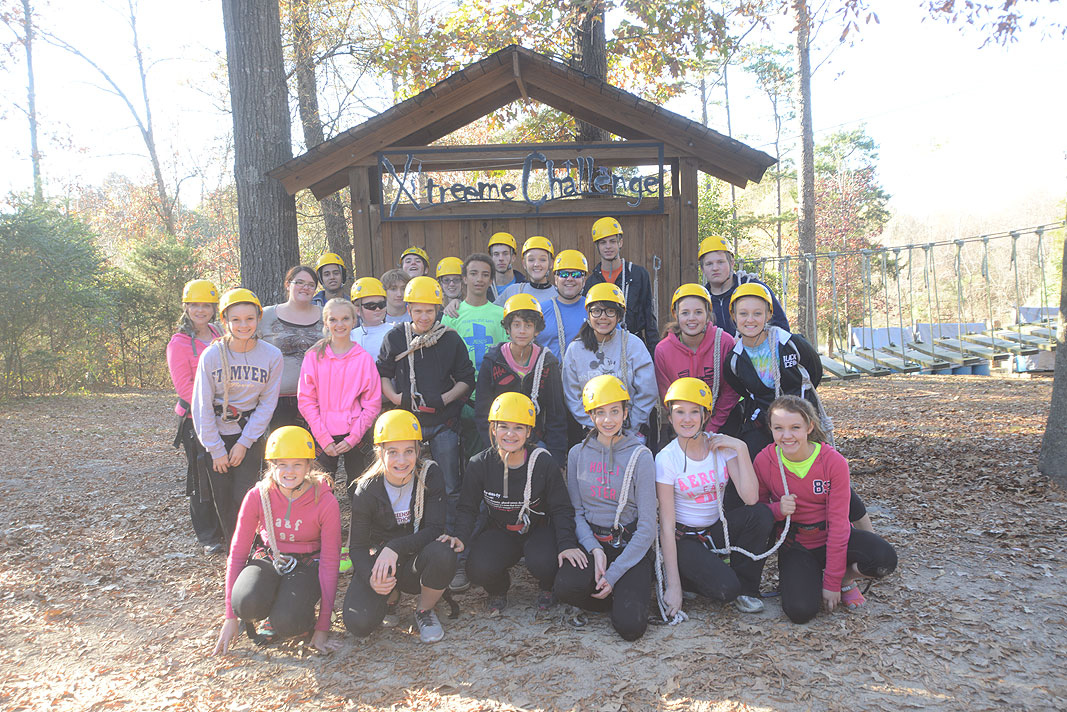 180 Youth Group from Cornerstone Christian Church at Xtreeme Challenge in Monroe North Carolina