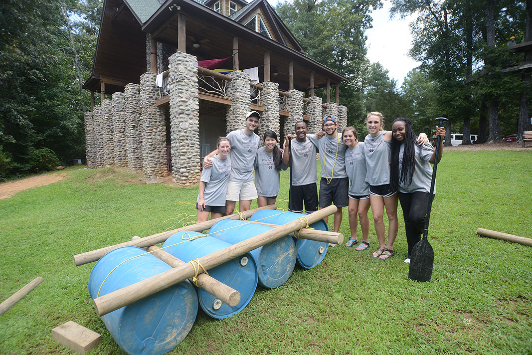 Mississippi State University Alumni Delegates at Xtreeme Challenge Team Building Center Monroe North Carolina