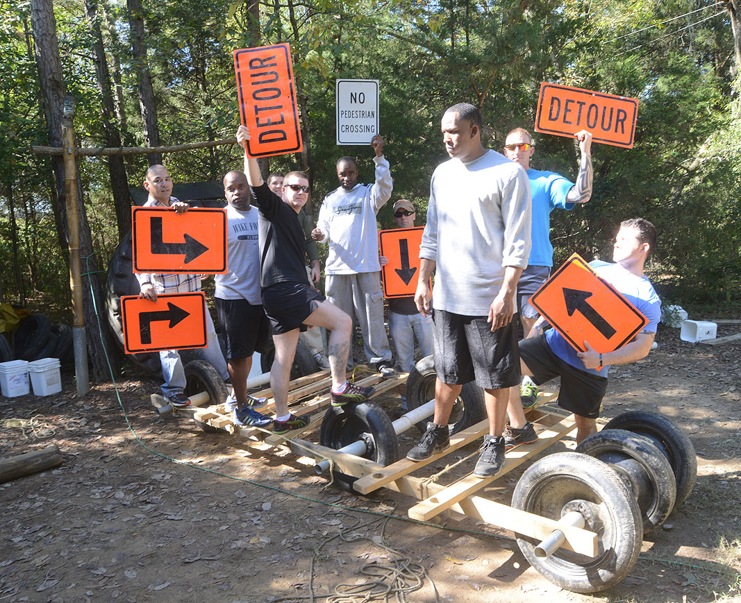 3-13th Infantry Regiment at Xtreeme Challenge Team Building Cnter in Charlotte North Carolina