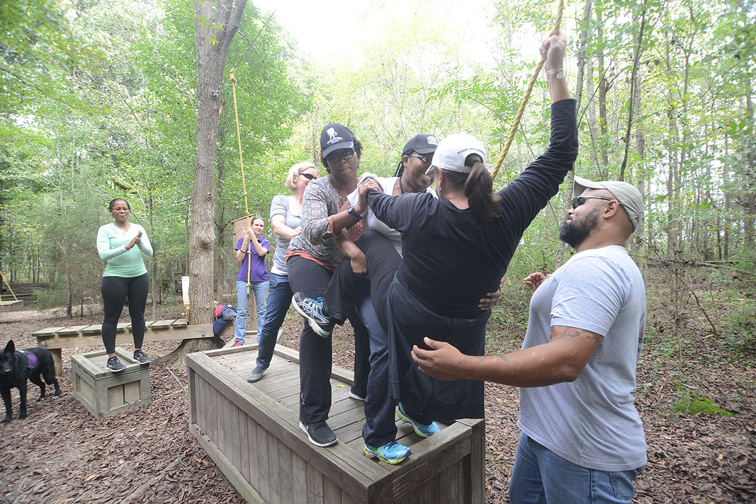 The Wounded Warrior Project September 2014 at Xtreeme Challenge Team Building Center in Charlotte North Carolina