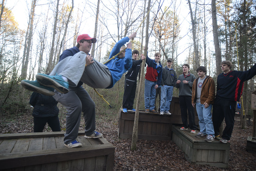 Christ Church Boys Lacrosse Team at Xtreeme Challenge 17 acre Team Building Center in Monroe North Carolina
