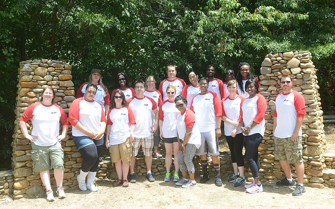 AON Hewitt Leadership Team at Xtreeme Challenge Team Building Center in Charlotte North Carolina