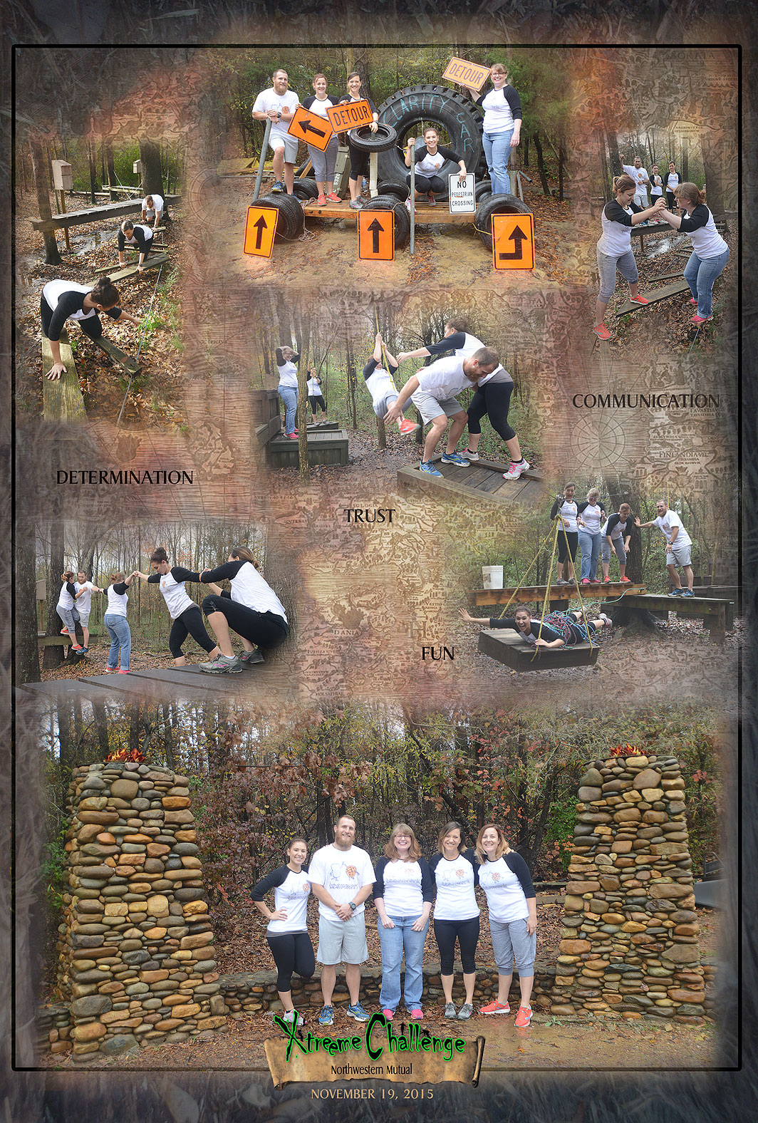 Northwestern Mutual at Xtreeme Challenge Team Building Center in Charlotte North Carolina