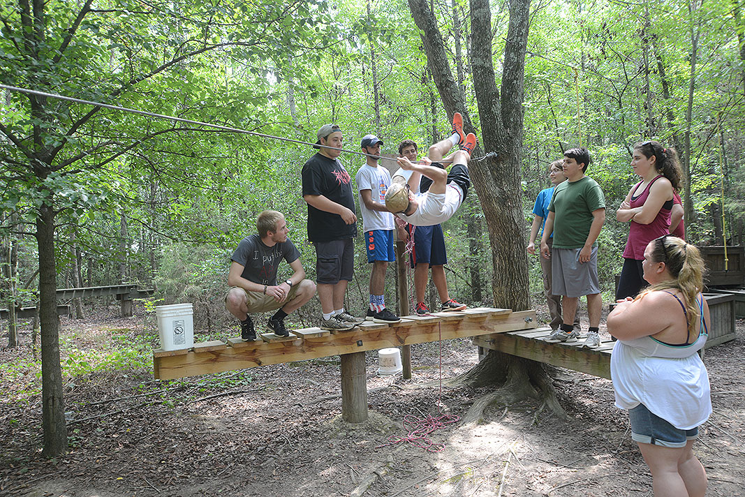 Belmont Abbey College RA's Team Builder at Xtreeme Challenge in Monroe North Carolina