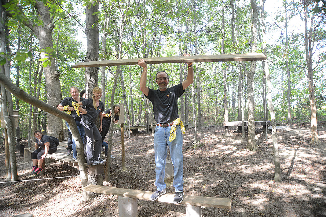 Ascension Benefits & Insurance Solutions at Xtreeme Challenge Outdoor Adventure Team Building Center in Charlotte