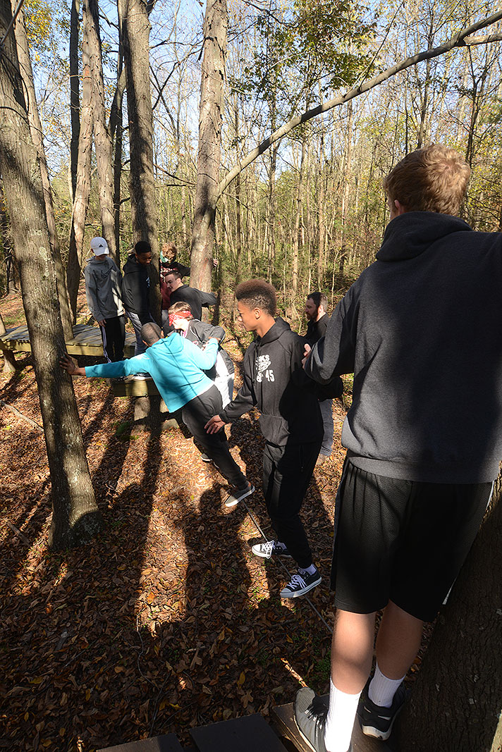 Bunker Hill High School at Xtreeme Challenge Team Building Cnter in Charlotte North Carolina