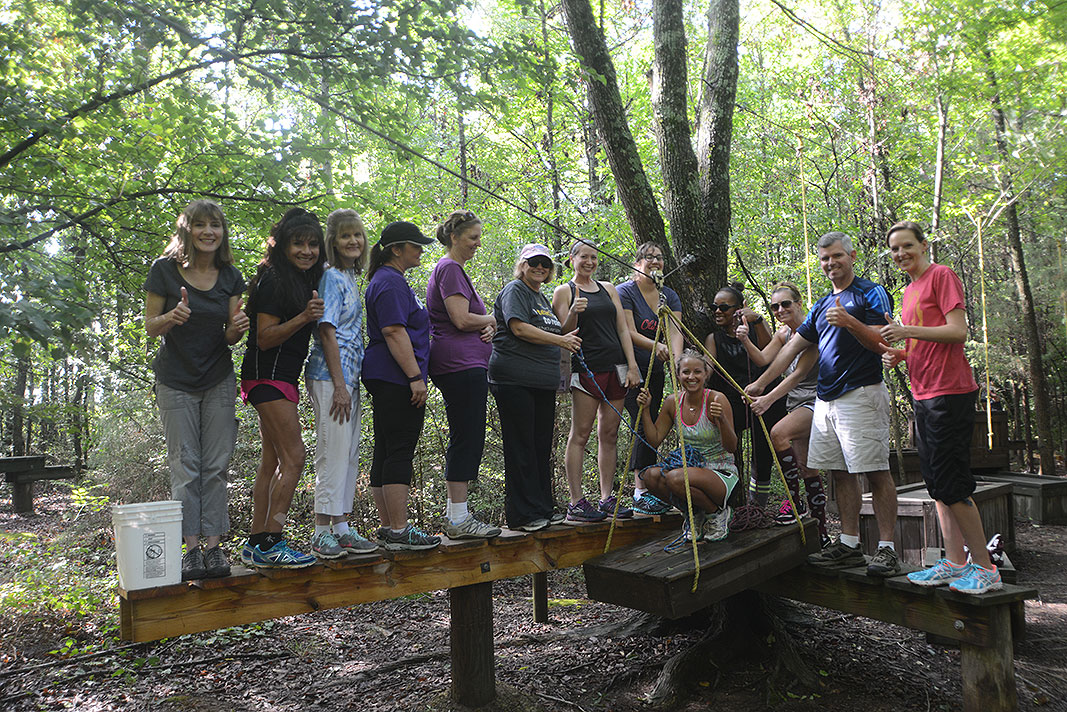 Cannon Lower School Team Builder at Xtreeme Challenge in Monroe North Carolina