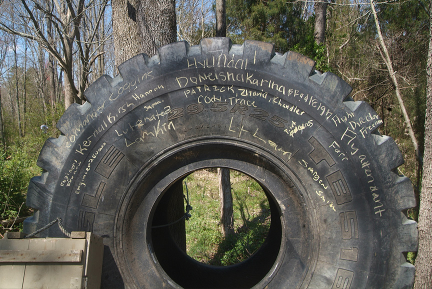 Chalkboards made from Tires at XC