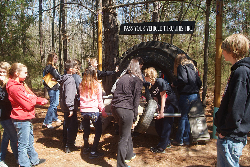 Challenges on the trail at Xtreeme Challenge Field Trip Center
