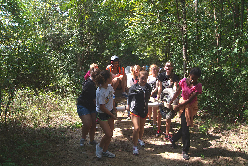 Countryside Montessouri Students on The Outdoor Adventure Trail at Xtreeme Challenge Charlotte North Carolina