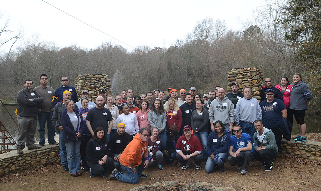 Chili's Restaurant Managers at Xtreeme Challenge Team Building Event Center in Monroe North Carolina