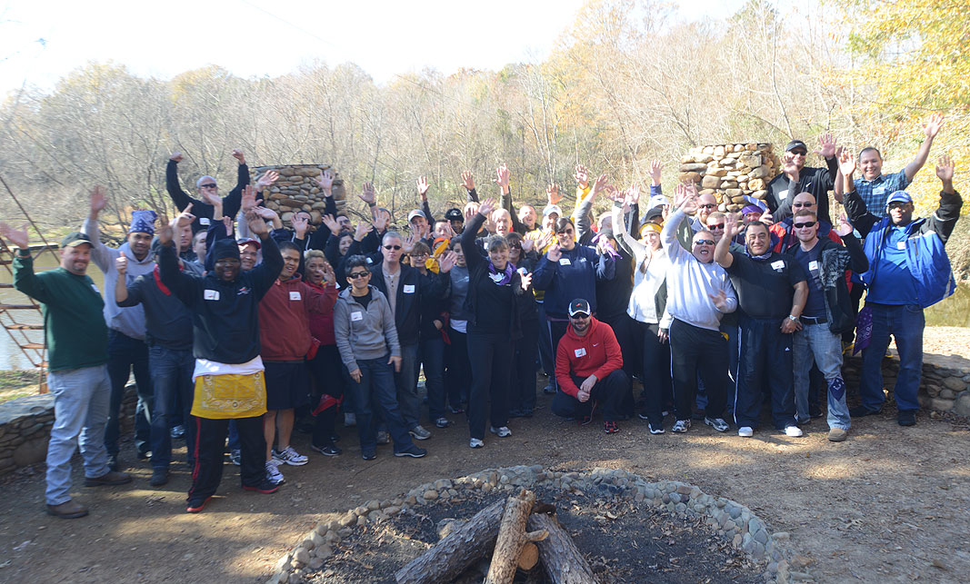 Chili's Management Team at Xtreeme Challenge Team Building Event Center in Monroe North Carolina