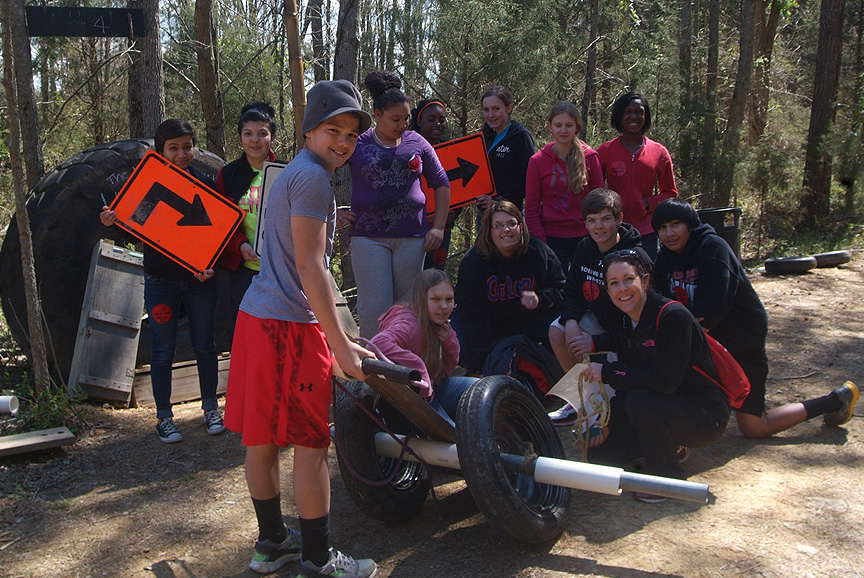 7th grade class time learning on the Adventure Trail of XC