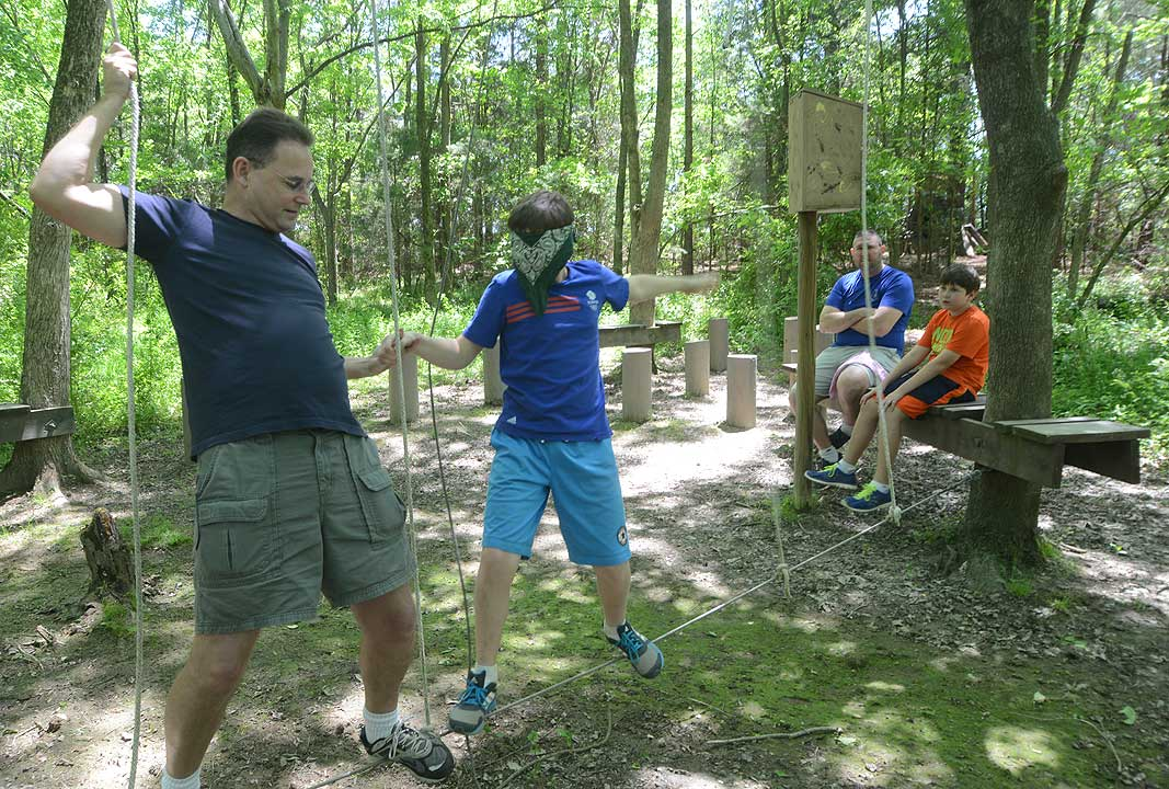 Cub Scout Pack 20 at Xtreeme Challenge Outdoor Adventure Team Building Center in Charlotte North Carolina