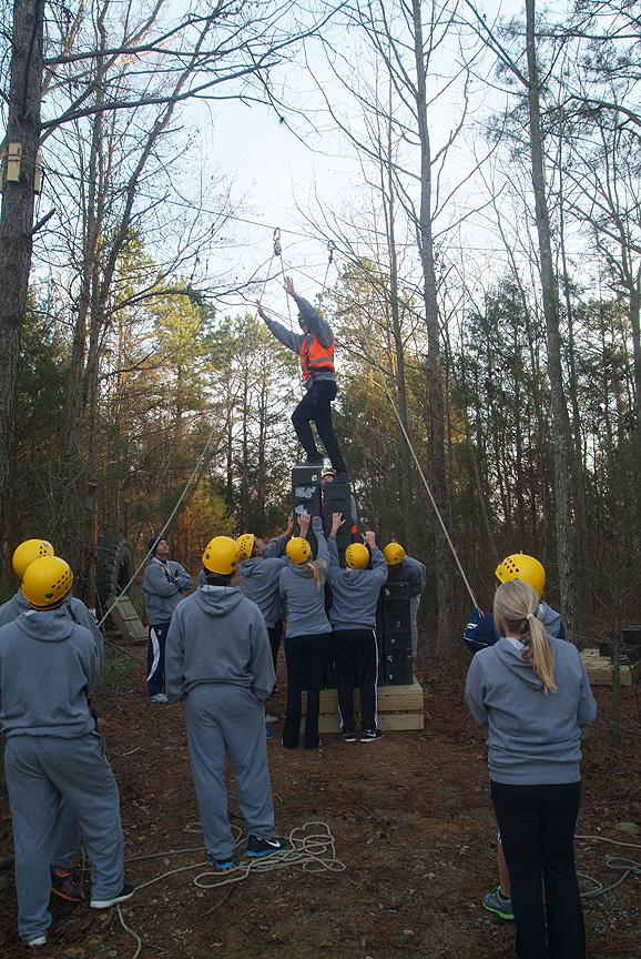 Crate stacking on The Outdoor Adventure Trail at Xtreeme Challenge