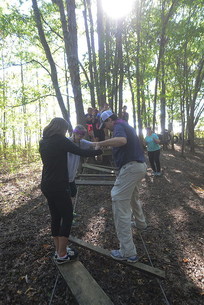 Carolina Center for Eye Care at Xtreeme Challenge Outdoor Adventure Team Building Center in Monroe North Carolina