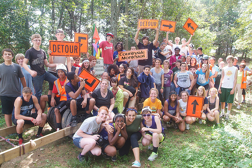 Xtreeme Challenge Outdoor Adventure Trail for High Schools in Charlotte