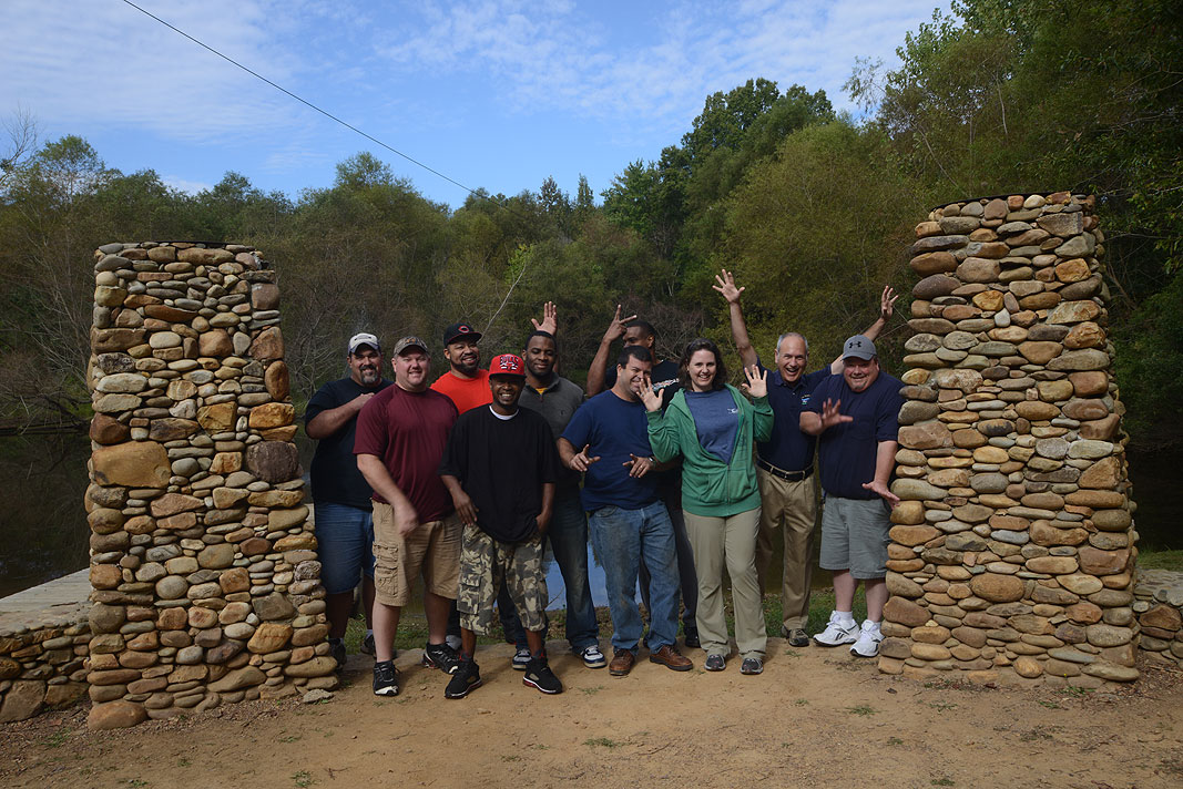Jarden Materials at Xtreeme Challenge Team Building Center in Monroe North Carolina
