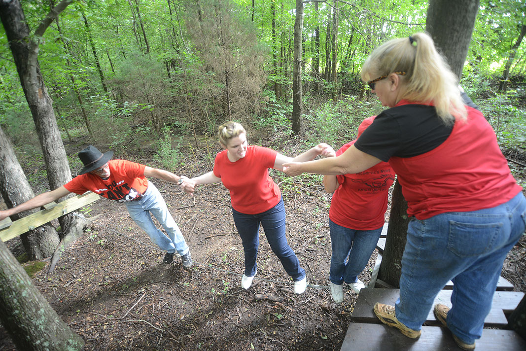 Kensington Elementary School Teachers Team Building at Xtreeme Challenge in Monroe North Carolina