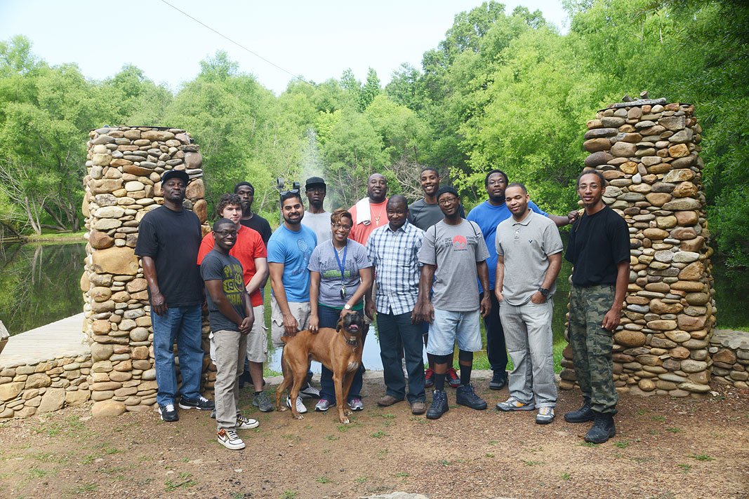 The Man Up Program CPCC at Xtreeme Challenge Team Building Center in Charlotte North Carolina