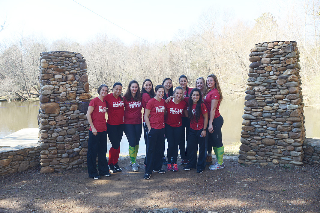 N C State Womens Tennis Team at Xtreeme Challenge Team Building Center in Charlotte North Carolina