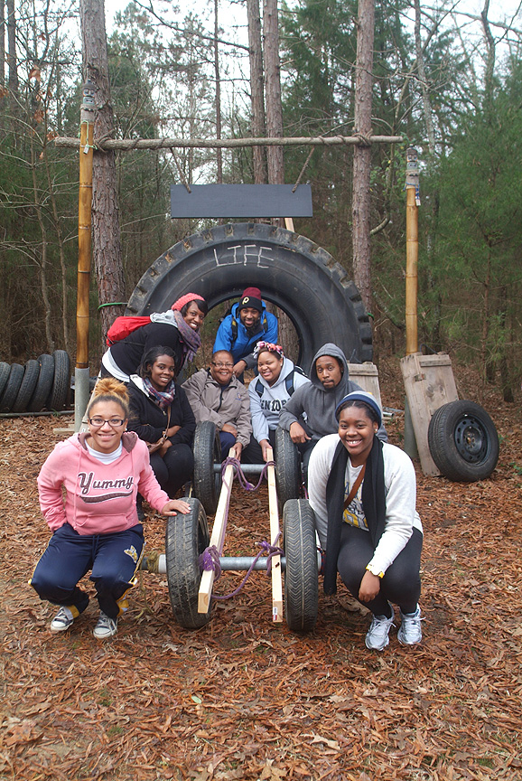 Team Building on The Outdoor Adventure Trail at XC