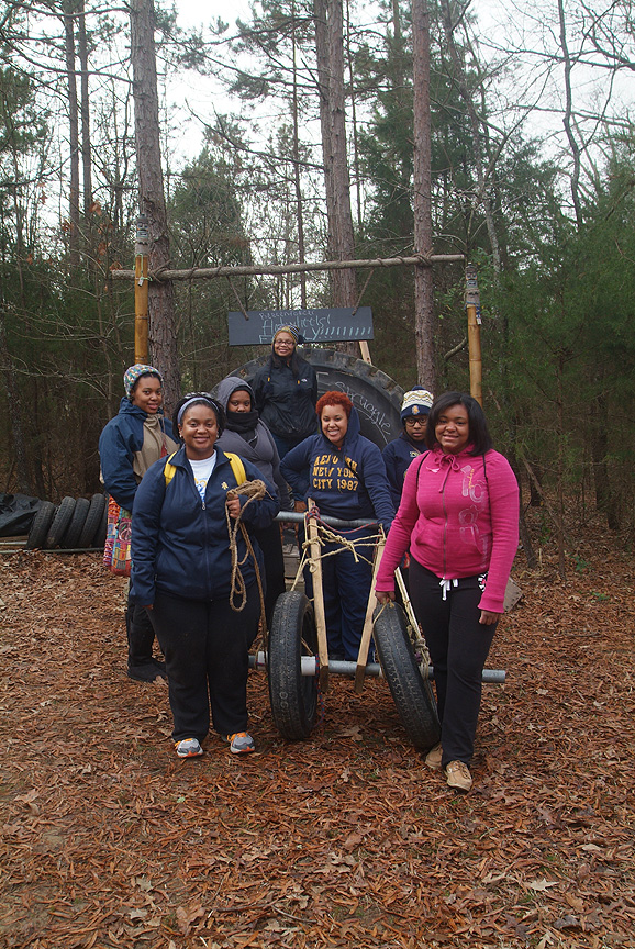 RA's from N C A&T State University at Xtreeme Challenge Team Building Center