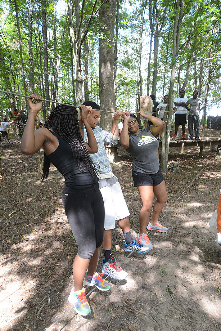 North Carolina Central University Eagle Experts at Xtreeme Challenge Team Building Center in Monroe North Carolina