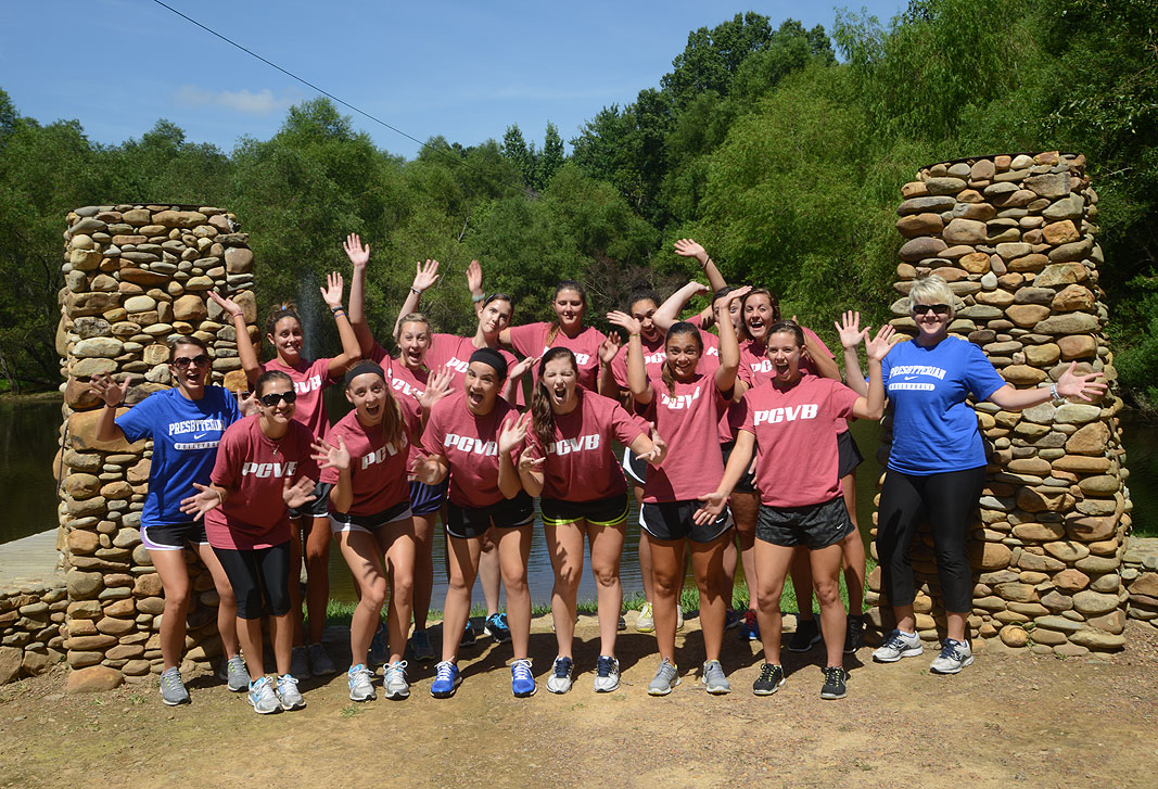 PC Volleyball Team at Xtreeme Challenge team building center Monroe North Carolina