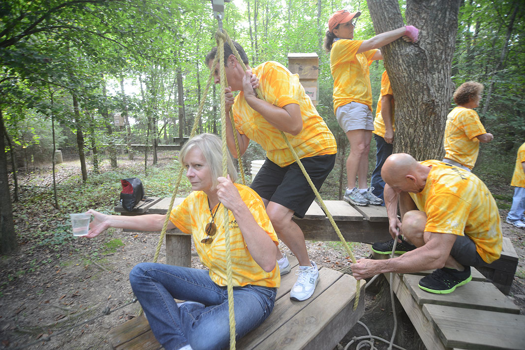 Plant Partners at Xtreeme Challenge Outdoor Adventure Team Building Center in Monroe North Carolina