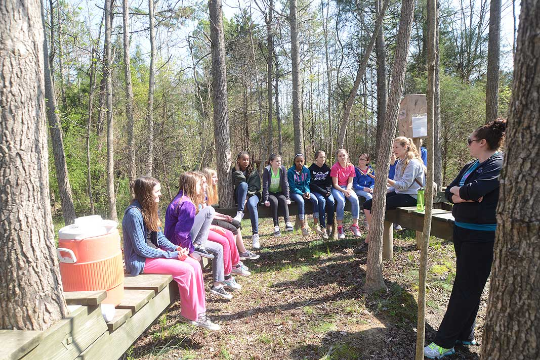 Porter Ridge Middle School 7th grade educational field trip at Xtreeme Challenge in Monroe North Carolina
