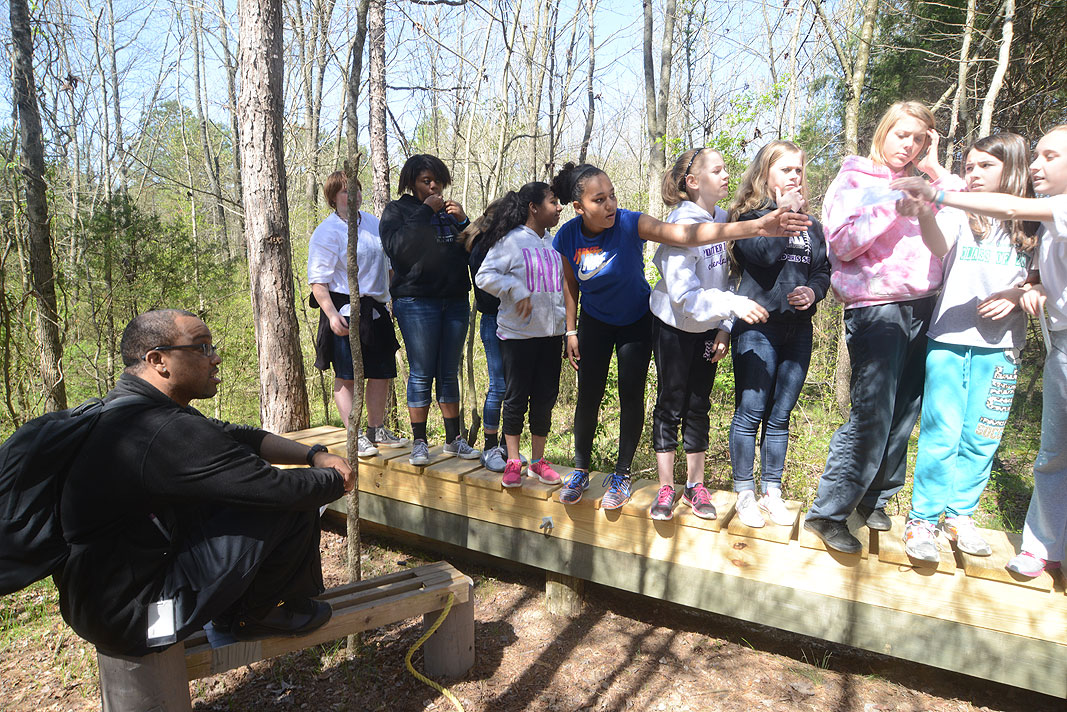 Educational Field Trip 7th grade porter ridge middle school at Xtreeme Challenge in Monroe North Carolina