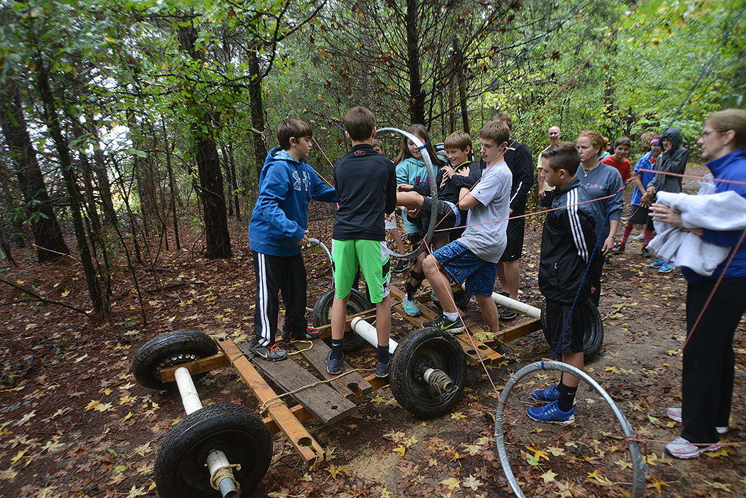 First Presbyterian Middle School Youth at Xtreeme Challenge