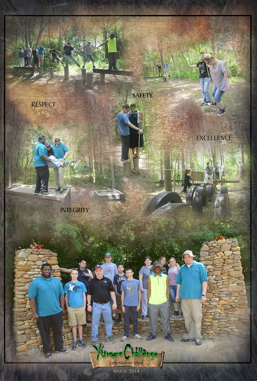 South Providence School at Xtreeme Challenge Outdoor Adventure Teambuilding Center in Monroe North Carolina