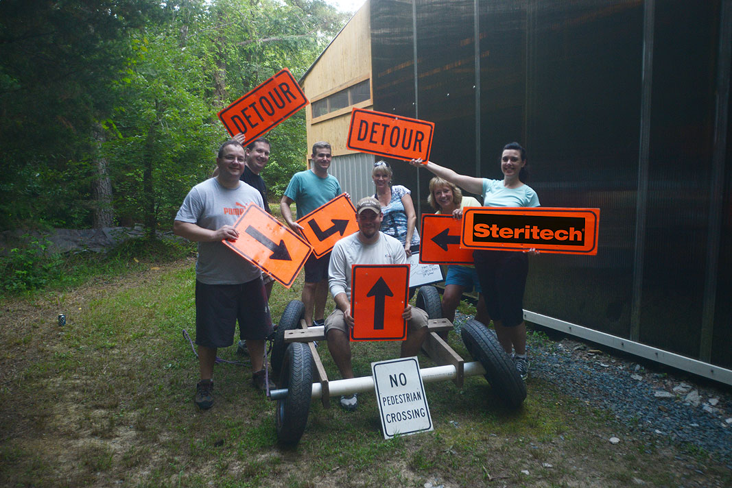 Steritech Division Managers team building event at Xtreeme Challenge Charlotte North Carolina