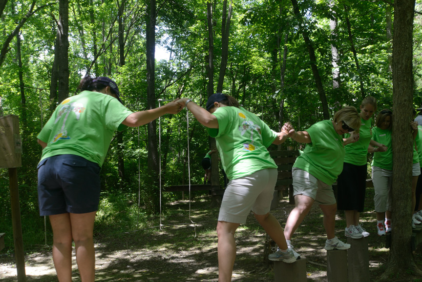 Chesnee Elementary School Teachers Team Building Day at Xtreeme Challenge