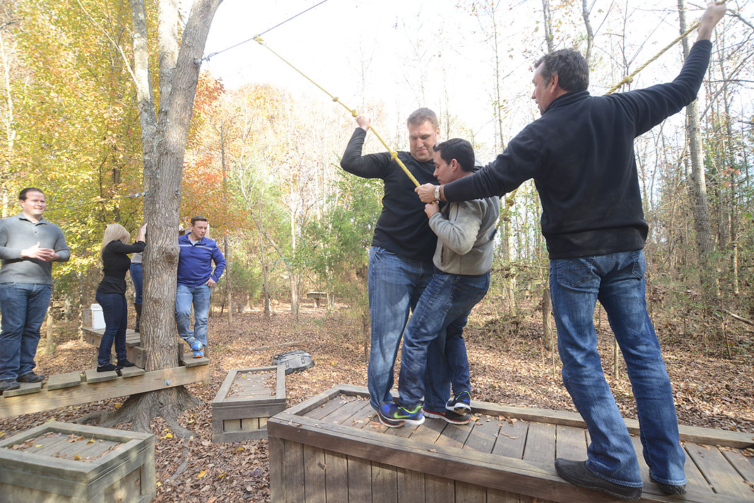 Trinet Managers Meeting at Xtreeme Challenge Team Building Center in Monroe North Carolina