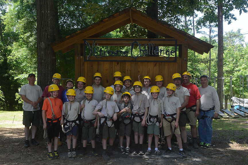 Boy Scout Troop 151 at Xtreeme Challenge in Monroe North Carolina