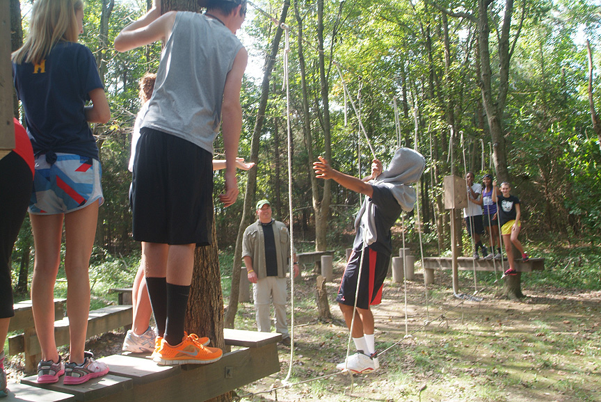 Trusting in friendships at Xtreeme Challenge Team Building Center NC