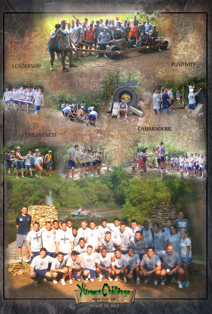 Wingate Soccer Team at Xtreeme Challenge Team Building Center