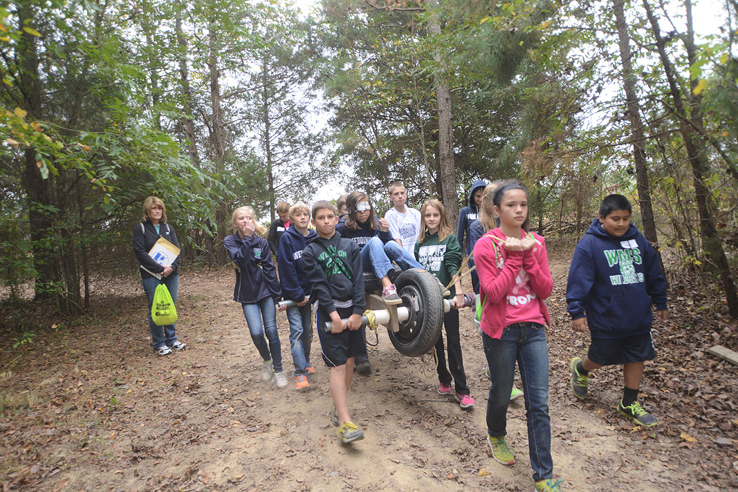 Weddington Middle School 6th Grade field trip to Xtreeme Challenge in Monroe North Carolina