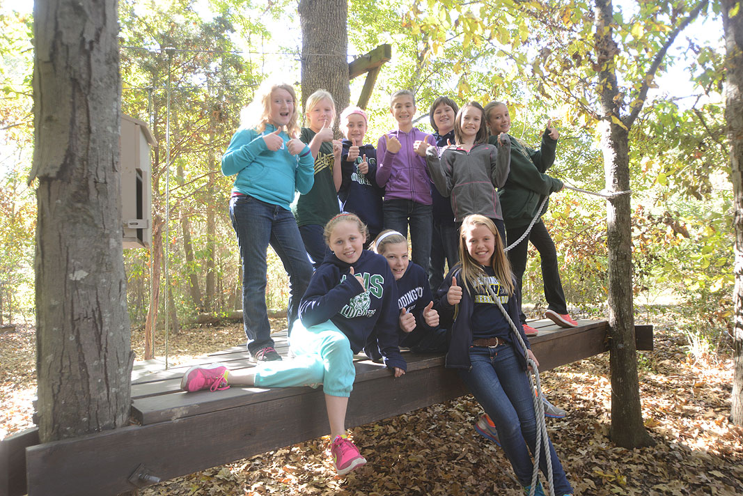 Weddington Middle School 6th grade field trip at Xtreeme Challenge Outdoor Adventure Center in Monroe North Carolina