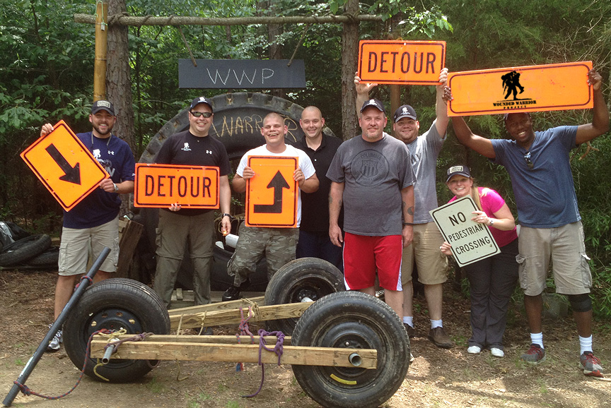 The Outdoor Adventure Trail-The Wounded Warrior Project Odyssey at Xtreeme Challenge Team Building Center Charlotte North Carolina