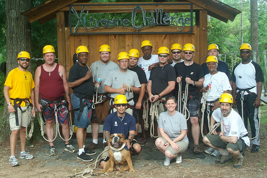The Wounded Warrior Project Odyssey at Xtreeme Challenge Team Building Center Charlotte North Carolina