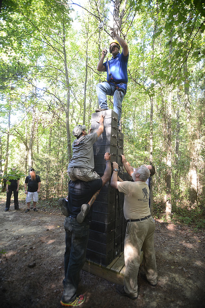 The Wounded Warrior Project at Xtreeme Challenge Team Building Center in Monroe North Carolina