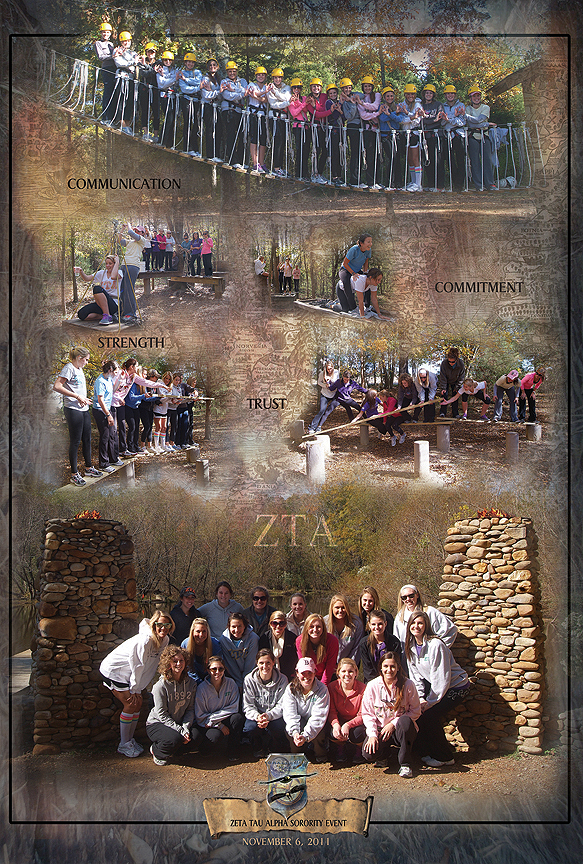 Zeta Tau Alpha Sorority Event Poster from Xtreeme Challenge 2011